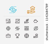 economy icons set. investment...
