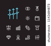 capital icons set. mutual funds ...