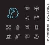 technology icons set. data...