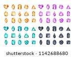 set of vector realistic... | Shutterstock .eps vector #1142688680