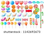 candies set. big collection of... | Shutterstock .eps vector #1142692673