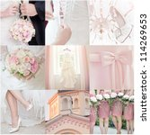 collage of nine wedding photos | Shutterstock . vector #114269653