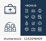 hr icon set and kpi with...