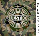 question on camouflage pattern | Shutterstock .eps vector #1142701859
