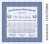 blue awesome certificate... | Shutterstock .eps vector #1142701883