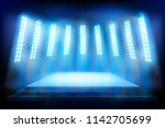 place for the show illuminated... | Shutterstock .eps vector #1142705699