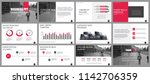business presentation slides... | Shutterstock .eps vector #1142706359