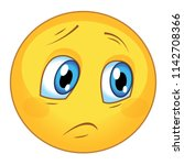 sad and sorrowful emoticon | Shutterstock .eps vector #1142708366