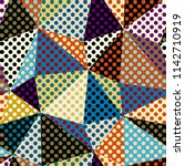 seamless geometric pattern.... | Shutterstock .eps vector #1142710919