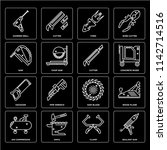 set of 16 icons such as sealant ... | Shutterstock .eps vector #1142714516