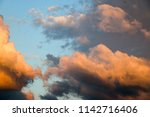 dramatic and moody pink  purple ... | Shutterstock . vector #1142716406