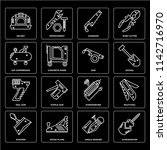 set of 16 icons such as... | Shutterstock .eps vector #1142716970