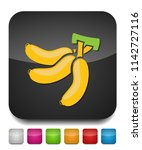 vector banana icon  fruit... | Shutterstock .eps vector #1142727116