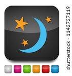 sleep icon  night moon ... | Shutterstock .eps vector #1142727119