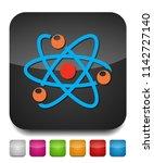 atom icon  atom vector symbol ...   Shutterstock .eps vector #1142727140
