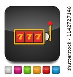777 jackpot icon  vector casino ... | Shutterstock .eps vector #1142727146