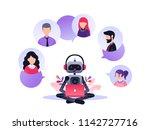 vector illustration  customer... | Shutterstock .eps vector #1142727716