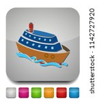 ship icon. cruise  tour ... | Shutterstock .eps vector #1142727920