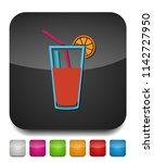 fresh juice icon  vector cold... | Shutterstock .eps vector #1142727950