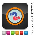 vector boxing gloves  boxing... | Shutterstock .eps vector #1142727956