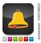 bell icon  vector alarm  alert... | Shutterstock .eps vector #1142728013