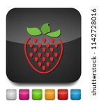 vector strawberry icon  fresh... | Shutterstock .eps vector #1142728016