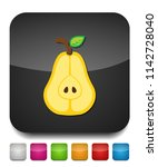 pear icon  fresh fruit... | Shutterstock .eps vector #1142728040