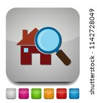 search house icon  property... | Shutterstock .eps vector #1142728049