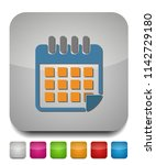 vector calendar button | Shutterstock .eps vector #1142729180