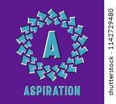 optical illusion aspiration... | Shutterstock .eps vector #1142729480