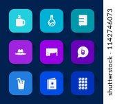 modern  simple vector icon set... | Shutterstock .eps vector #1142746073