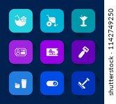 modern  simple vector icon set... | Shutterstock .eps vector #1142749250