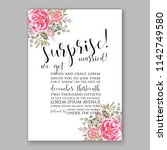 wedding invitation card with... | Shutterstock .eps vector #1142749580