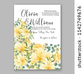 wedding invitation card with... | Shutterstock .eps vector #1142749676