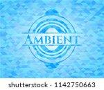 ambient light blue emblem.... | Shutterstock .eps vector #1142750663