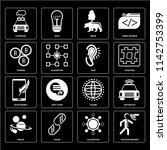 set of 16 icons such as motion...