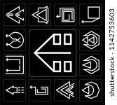 set of 13 simple editable icons ... | Shutterstock .eps vector #1142753603