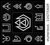set of 13 simple editable icons ... | Shutterstock .eps vector #1142753639