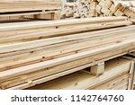 freshly cut or chopped rough... | Shutterstock . vector #1142764760
