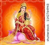 vector illustration.  lakshmi... | Shutterstock .eps vector #1142764943