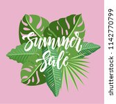 summer sale lettering on a... | Shutterstock .eps vector #1142770799