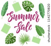 summer sale concept design with ... | Shutterstock .eps vector #1142770820