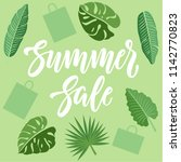 summer sale concept design with ... | Shutterstock .eps vector #1142770823