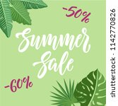 summer sale and discounts... | Shutterstock .eps vector #1142770826