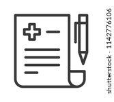 pen and document prescription ...   Shutterstock .eps vector #1142776106
