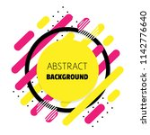 abstract background. shapes.  | Shutterstock .eps vector #1142776640