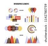 business plan visualisation...   Shutterstock .eps vector #1142780759
