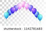 bright realistic helium vector... | Shutterstock .eps vector #1142781683