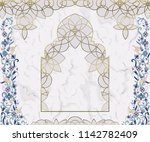 arabic floral arch. traditional ... | Shutterstock .eps vector #1142782409