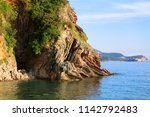 adriatic sea view with... | Shutterstock . vector #1142792483
